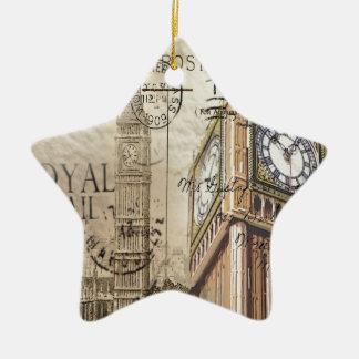 Ornement Étoile En Céramique Clocktower grand Ben de la Grande-Bretagne