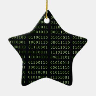 Ornement Étoile En Céramique Code binaire