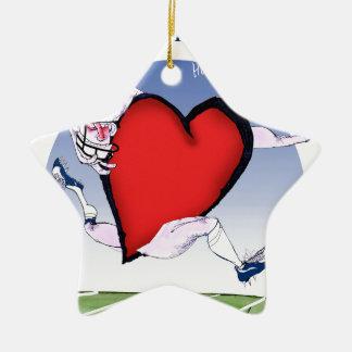 Ornement Étoile En Céramique coeur principal de W la Virginie, fernandes