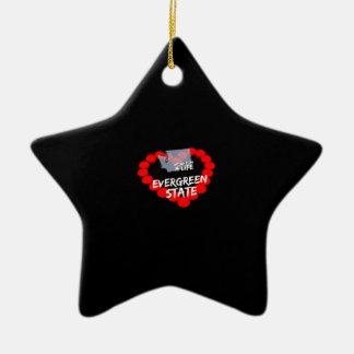 Ornement Étoile En Céramique Conception de coeur de bougie pour l'état de