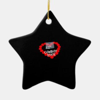 Ornement Étoile En Céramique Conception de coeur de bougie pour l'état du