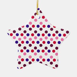 Ornement Étoile En Céramique Concevez les points ronds simples Polk de mode de