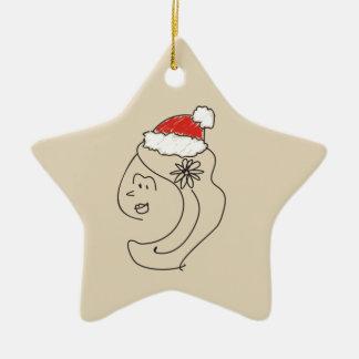 Ornement Étoile En Céramique Cool rouge d'étoile d'astrologie drôle de Noël de