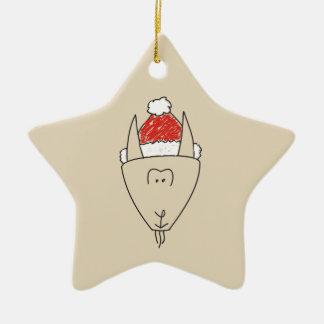 Ornement Étoile En Céramique Cool rouge drôle d'astrologie d'étoile de Noël de
