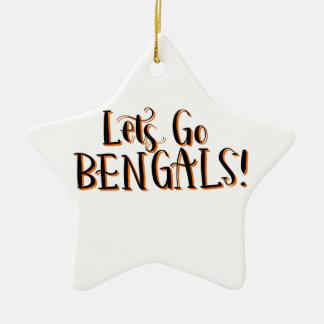 Ornement Étoile En Céramique Copie de Bengals