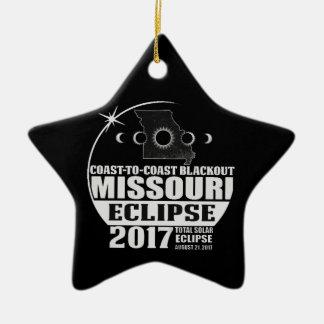 Ornement Étoile En Céramique Côte pour marcher l'éclipse 2017 du Missouri