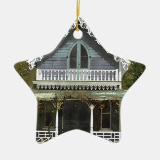Ornement Étoile En Céramique Cottage sur le Martha's Vineyard