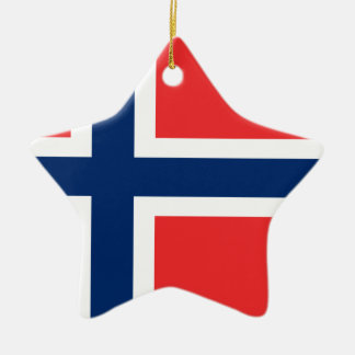 Ornement Étoile En Céramique Coût bas ! Drapeau de la Norvège