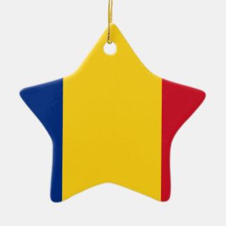 Ornement Étoile En Céramique Coût bas ! Drapeau de la Roumanie