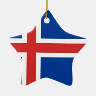 Ornement Étoile En Céramique Coût bas ! Drapeau de l'Islande