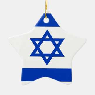 Ornement Étoile En Céramique Coût bas ! Drapeau de l'Israël