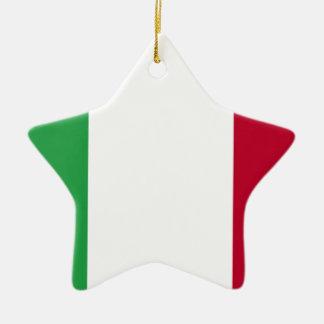 Ornement Étoile En Céramique Coût bas ! Drapeau de l'Italie