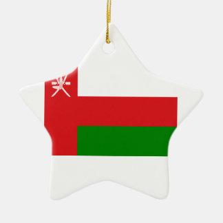 Ornement Étoile En Céramique Coût bas ! Drapeau de l'Oman