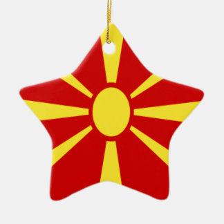 Ornement Étoile En Céramique Coût bas ! Drapeau de Macédoine
