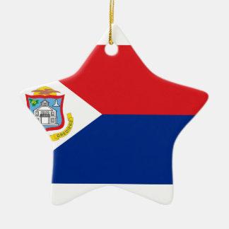 Ornement Étoile En Céramique Coût bas ! Drapeau de Sint Maarten