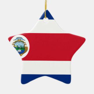 Ornement Étoile En Céramique Coût bas ! Drapeau du Costa Rica