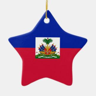 Ornement Étoile En Céramique Coût bas ! Drapeau du Haïti