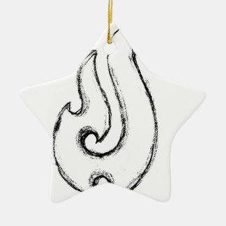 Ornement Étoile En Céramique Crochet de Mauis