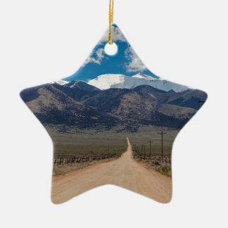 Ornement Étoile En Céramique Croisière de route de dos de vallée de San Luis