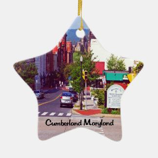 Ornement Étoile En Céramique Cumberland le Maryland