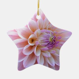 Ornement Étoile En Céramique Dahlia Hued en pastel