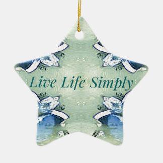 Ornement Étoile En Céramique 'De la vie mode de vie vivant bien aéré léger