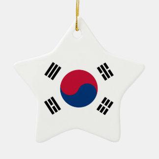 Ornement Étoile En Céramique Drapeau de la Corée du Sud
