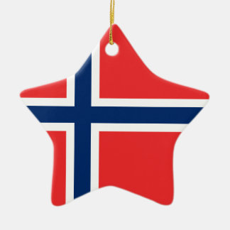 Ornement Étoile En Céramique Drapeau de la Norvège