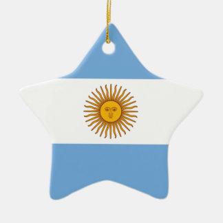 Ornement Étoile En Céramique Drapeau de l'Argentine - le Bandera De Argentine