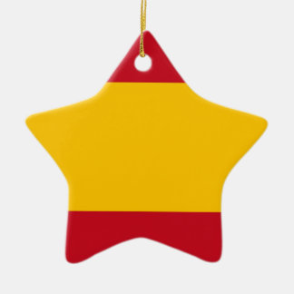 Ornement Étoile En Céramique Drapeau de l'Espagne, Bandera de España, Bandera