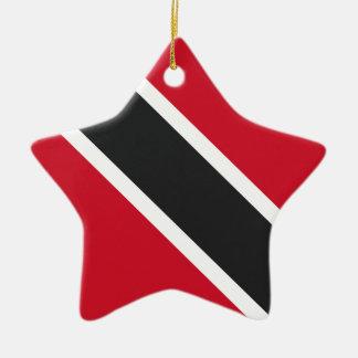 Ornement Étoile En Céramique Drapeau de Trinidadtobago