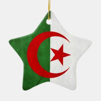 Ornement Étoile En Céramique Drapeau national grunge de l'Algérie