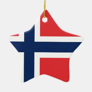 Ornement Étoile En Céramique drapeau norieguian