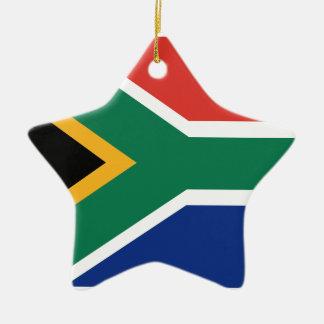 Ornement Étoile En Céramique Drapeau sud-africain