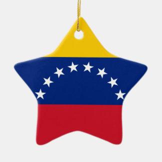 Ornement Étoile En Céramique Drapeau vénézuélien - drapeau du Venezuela - le