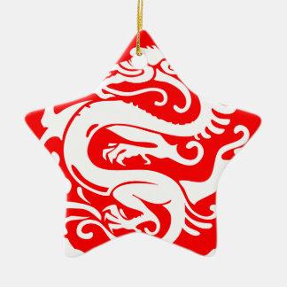 Ornement Étoile En Céramique éléments de la Chine de porcelaine de dragon