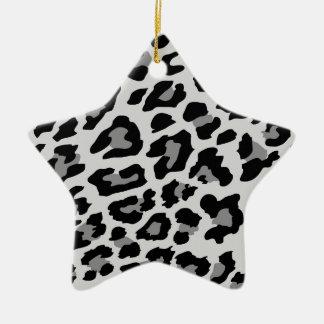 Ornement Étoile En Céramique empreinte de léopard