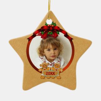 Ornement Étoile En Céramique Enfants de fête de pain d'épice de vacances