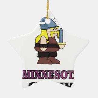 Ornement Étoile En Céramique Équipage du Minnesota