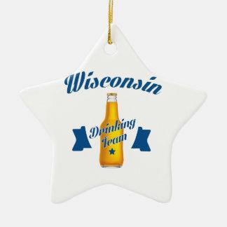 Ornement Étoile En Céramique Équipe potable du Wyoming