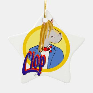 Ornement Étoile En Céramique Étoile de Noël Clop. Très beau et unique