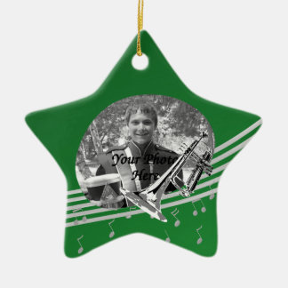 Ornement Étoile En Céramique Étoile de vert de musique de trompette