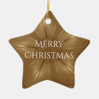 Ornement Étoile En Céramique Étoile élégante de kaléidoscope de Noël de Brown