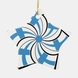 Ornement Étoile En Céramique Étoile finlandaise