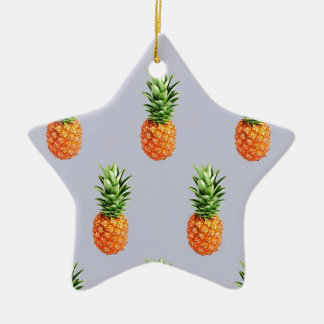 Ornement Étoile En Céramique Express d'ananas