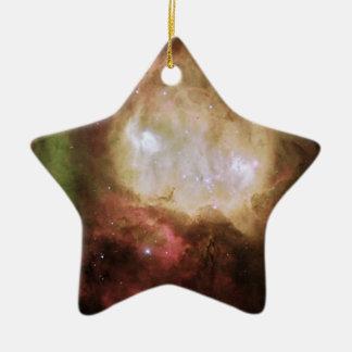 Ornement Étoile En Céramique Fantôme mystérieux en nébuleuse de Carina