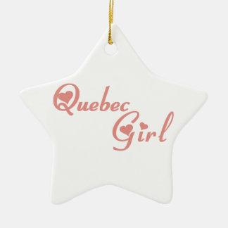 Ornement Étoile En Céramique Fille du Québec