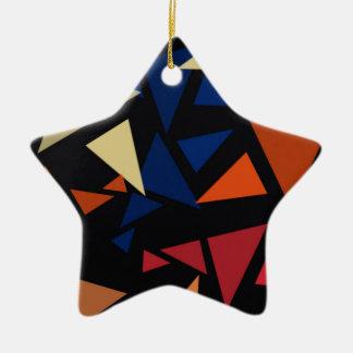 Ornement Étoile En Céramique Formes géométriques colorées