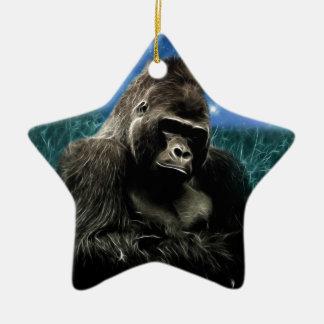 Ornement Étoile En Céramique Gorille dans le pré