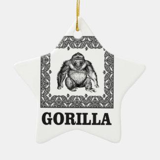 Ornement Étoile En Céramique gorille enfermé dans une boîte